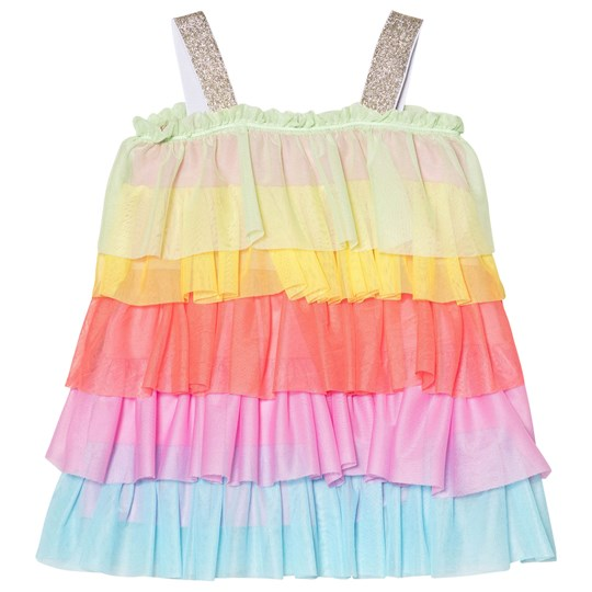 Agatha Ruiz de la Prada Rainbow Frill Strappy Dress Multicolour