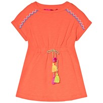 Agatha Ruiz de la Prada Orange Dress With Multicolour Tie Oranssi