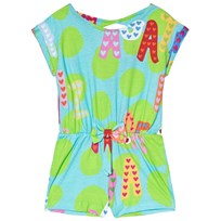 Agatha Ruiz de la Prada Blue and Green Agatha Print Romper Green & Blue