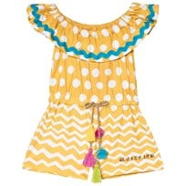 Agatha Ruiz de la Prada Yellow and White Spot Romper Yellow