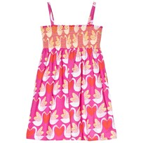 Agatha Ruiz de la Prada Pink Strappy Dress With Goose And Heart Print Pink