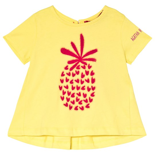 Agatha Ruiz de la Prada Yellow Pineapple Print Top Yellow