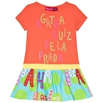 Agatha Ruiz de la Prada Orange Dress With Multicolour Bottom Oranssi