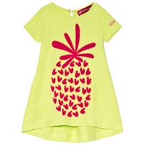 Agatha Ruiz de la Prada Yellow Dress With Pink Pineapple Print Yellow
