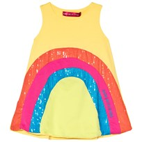 Agatha Ruiz de la Prada Yellow Dress With Multicolour Design Yellow