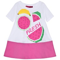 Agatha Ruiz de la Prada White Dress With Fruit Pattern White