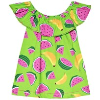 Agatha Ruiz de la Prada Green Dress With Fruit Print Green