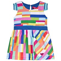 Agatha Ruiz de la Prada Multicolour Dress With Blue Waist Band Multicolour