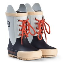 Didriksons Splashman Kid's Boots Navy and Snow White Marinblå