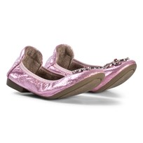 Lelli Kelly Pink Metallic Jewelled Butterfly Magiche Folding Pumps PINK METALLIC