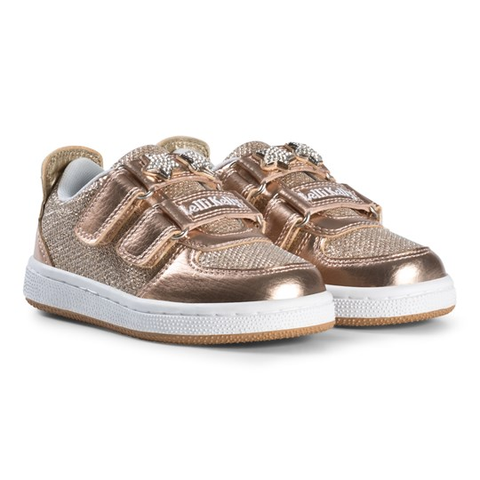 Lelli Kelly Metallic and Jewelled Star Detachable Velcro Strap Trainers Skor Guld BRONZE METALLIC