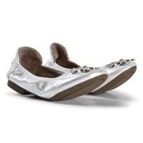 Lelli Kelly Silver Metallic Jewelled Butterfly Magiche Folding Pumps SILVER METALLIC