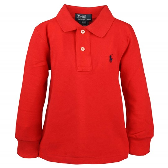 Ralph Lauren LS Custom Fit Polo Red Red