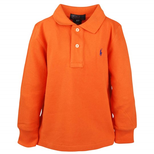 Ralph Lauren LS Custom Fit Polo Orange Orange