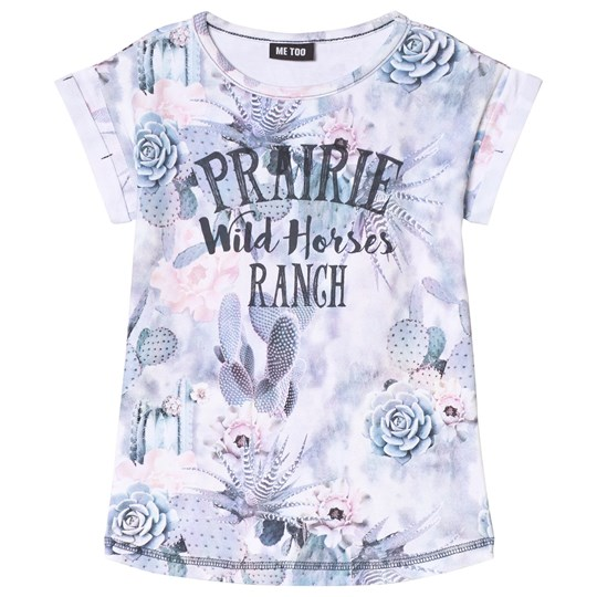 Me Too Wild Rose Print T-Shirt Coral Almond Multi