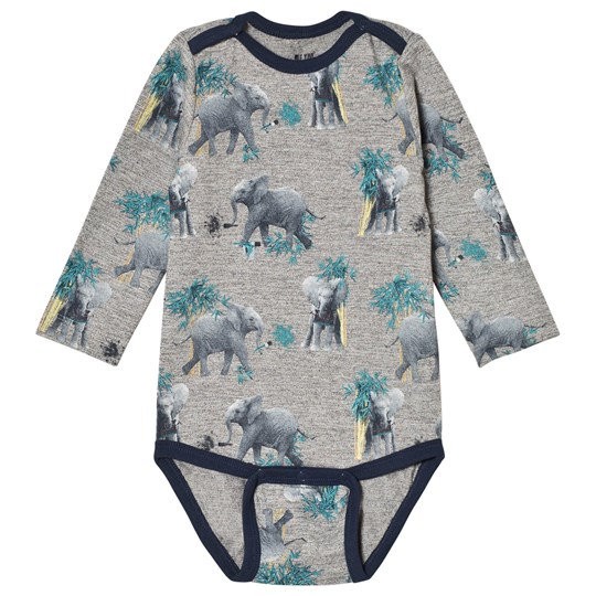 Me Too Elephant Pint Baby Body Dress Blues Black