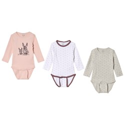 Me Too Baby body 3-Pack Wistful Mauve