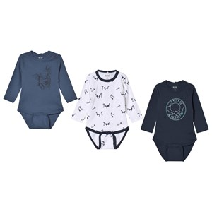 Image of Me Too Baby Body 3-Pack Dress Blue 68 cm (3007395705)
