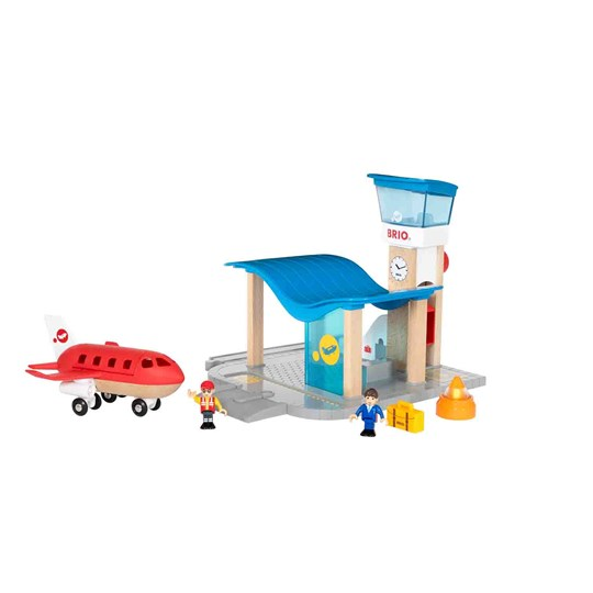 BRIO BRIO World - 33883 Airport with Control Tower Red