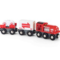 BRIO World Cargo Train Red