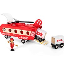 BRIO World Cargo Transport Helicopter Red