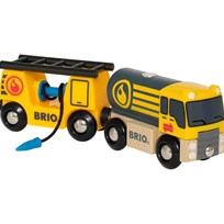 BRIO World Tanker Truck with Wagon Yellow
