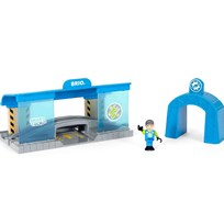 BRIO World Smart Railway Workshop Blue