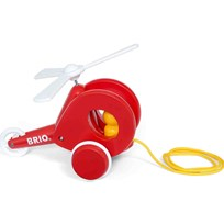 BRIO BRIO Baby - 30227 Pull Along Helicopter Red