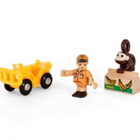 BRIO BRIO World - 33865 Safarileksaksfigur med apa Yellow