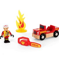 BRIO World Firefighter Play Kit Red