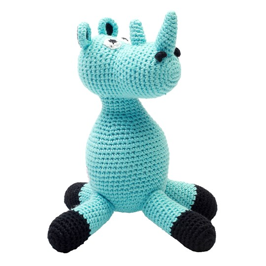 natureZOO Mr Rhino Musical Toy Turquoise Blue