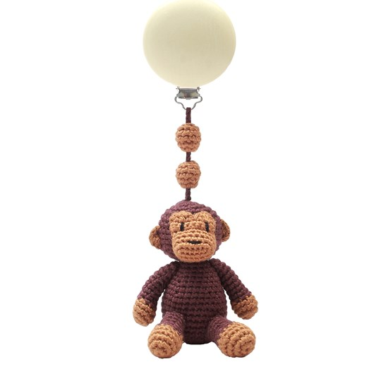 natureZOO Pram Toy Teddy Brun