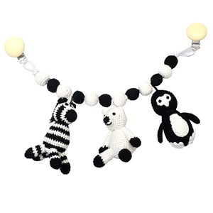 Image of natureZOO Pram Mobile Penguin, Polar Bear, Zebra (3145733921)