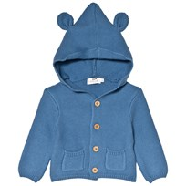 Cyrillus Blue Hooded Garter Stitch Hoody with Ears 6419