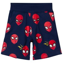Fabric Flavours Spider-Man Faces Sweatshorts Blue