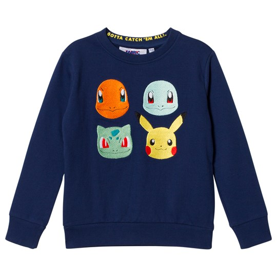 Fabric Flavours Blue Pokemon Aloha Sweatshirt Blue