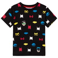Fabric Flavours Black Batman and Robin Tee Black