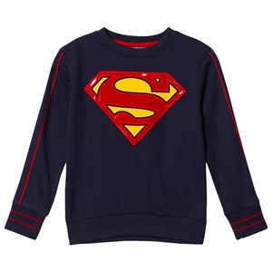 Image of Fabric Flavours Navy Superman Logo Sweatshirt 3-4 years (2976070575)