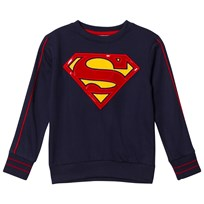 Fabric Flavours Navy Superman Logo Sweatshirt Navy