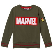 Fabric Flavours Green Marvel Velcro Logo Sweatshirt Green