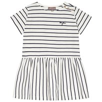 Emile et Ida Ecru Marine Stripped Dress ECRU MARINE