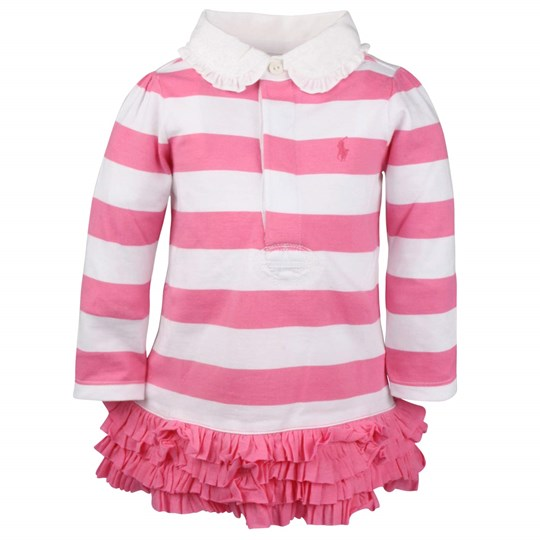 Ralph Lauren EU LS Rugby Dress Pink Pink