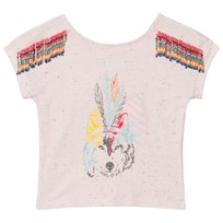 Billieblush Pale Pink Wolf Embellished Tee 44L