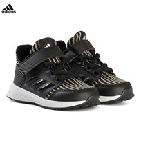 adidas Performance Black RapidaRun Knit Velcro Infants Trainers CORE BLACK/CORE BLACK/FTWR WHITE