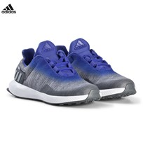 adidas Performance Grey and Blue RapidaRun Uncaged Sneakers GREY THREE F17/GREY TWO F17/HI-RES BLUE S18