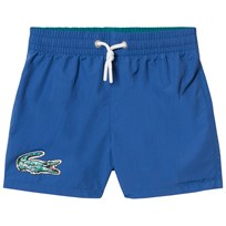 Lacoste Blue Branded Swimshorts Blue/Under Green