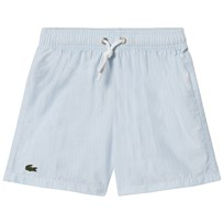 Lacoste Blue Stripe Swimshorts White/Dragonfly