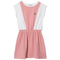 Lacoste Pink and White Panelled Sleeveless Dress Fairy Pink/White