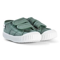 Victoria Canvas Trainers Green Jade