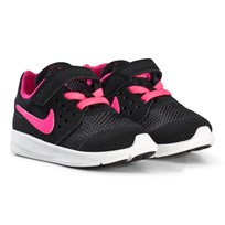 NIKE Black and Pink Nike Downshifter 7 Kids Shoe 002